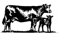 Cow dxf File