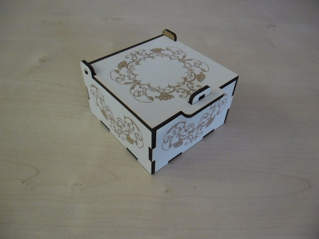 Laser Cut Jewelry Box 3mm Laminated Mdf Free Vector Cdr Download 3axis Co