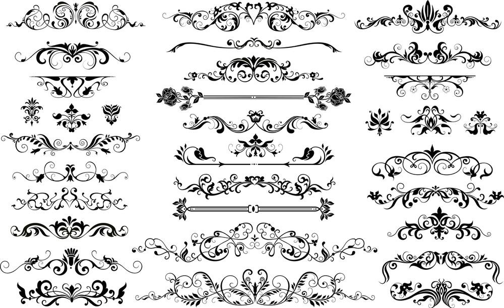 Floral Border Vector Set (.eps) Free Vector Download ...