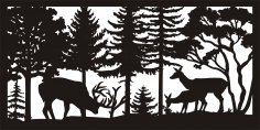 30 X 60 Buck Rub Doe Fawn Plasma Metal Art DXF File