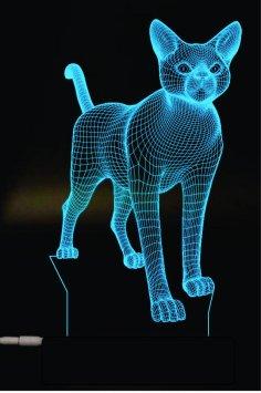 Cat 3D Lamp Vector Model Free Vector