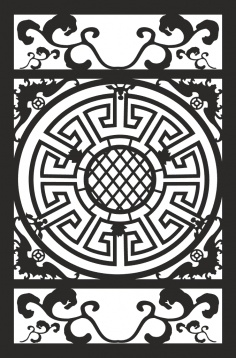 Ornamental Round Floral Pattern CDR File