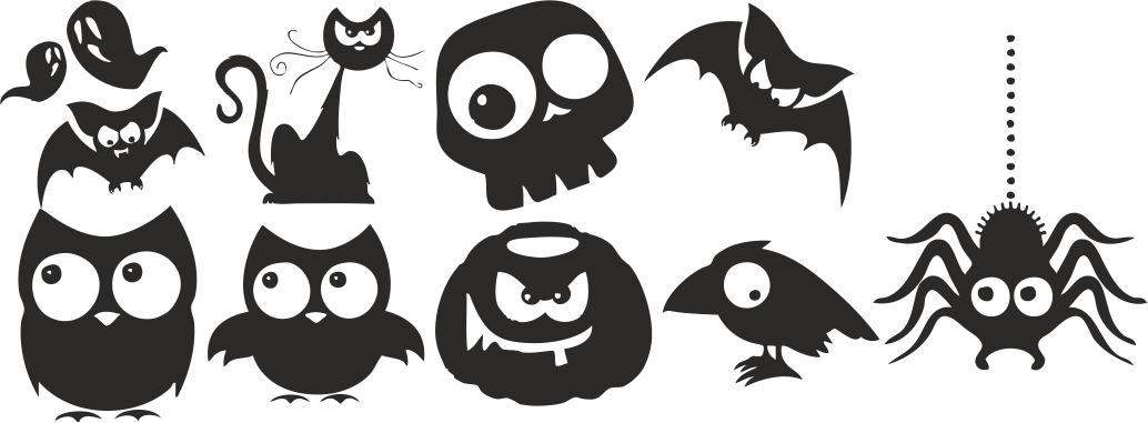 Halloween Silhouette Vectors Free Vector Download 3axis Co