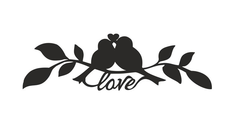 Lovebirds On Branch Vector Free Vector Cdr Download 3axis Co