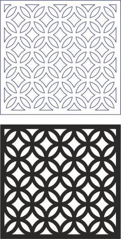 Vector Geometric Seamless Pattern Modern dxf File