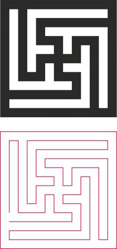 Decorative lattice vector dxf File