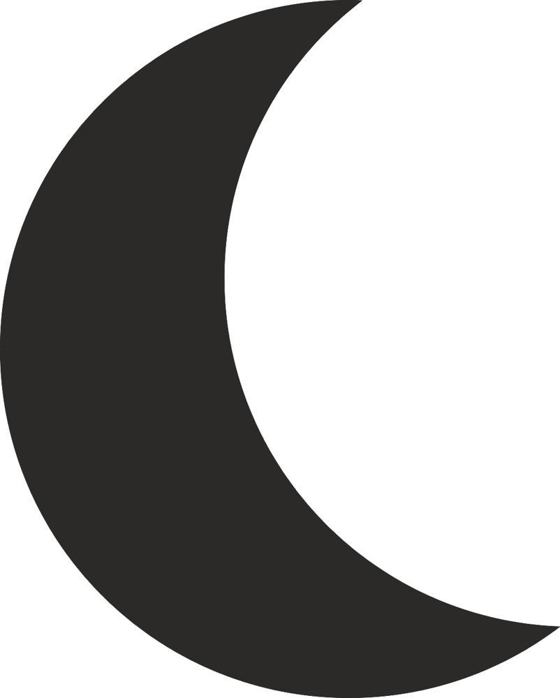 Moon Silhouette Vector...Y Logo 3d