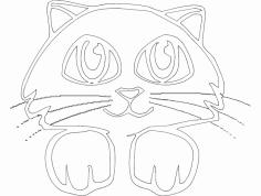 Gato 3(Cat) dxf File