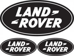 Land Rover Logo dxf File