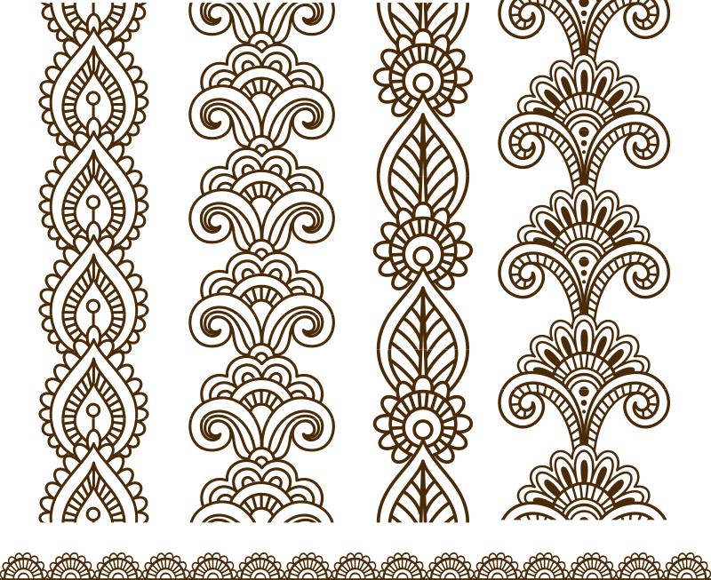 Henna Mehndi Vector Art Free Vector Cdr Download 3axis Co