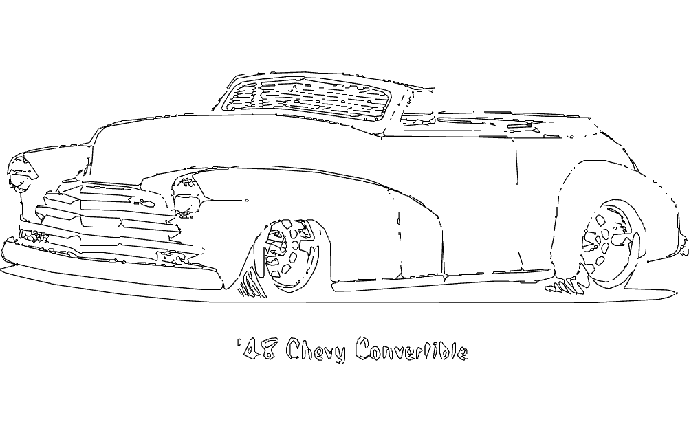 18 Chevy Convertible dxf File Free Download - 3axis co