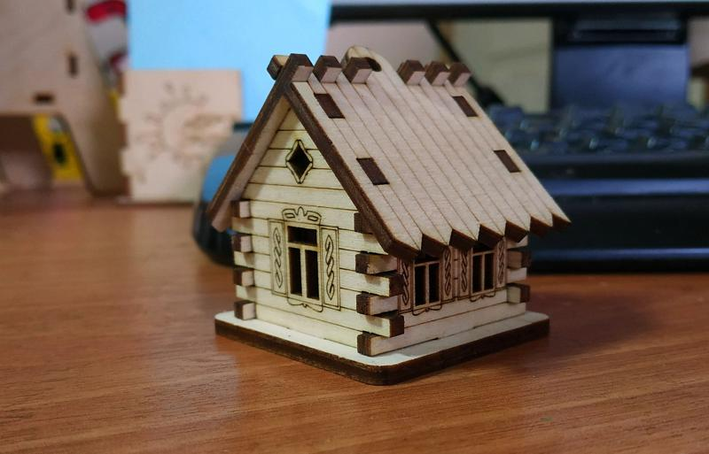 Laser Cut House Hut Cnc Template Free Vector Cdr Download