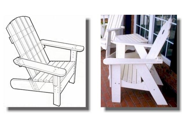 Adirondack Chairs Cnc Template Pdf File