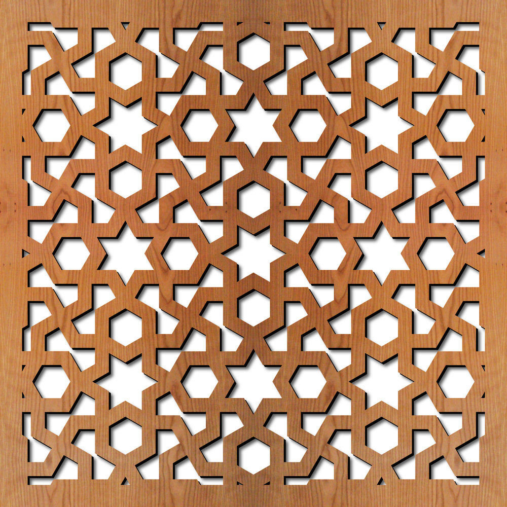 Arabic Geometric Laser Cut Pattern Dxf File Free Download