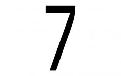 Number 7 dxf File