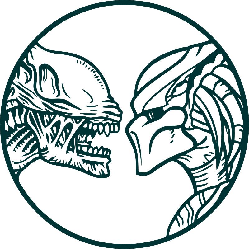 vector alien vs predator wall decals free vector cdr download - 3axis.co