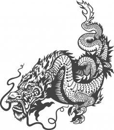 Dragon Celestial Animals Vector Art CDR File
