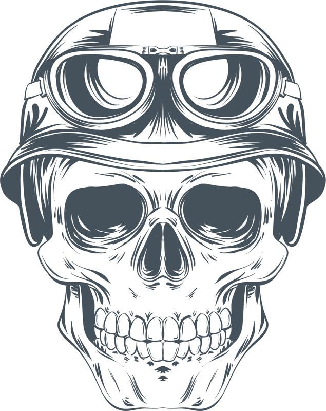 Skull Helmet Vector CDR File