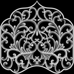 Flower 3D Grayscale Image for 3D Routing BMP File