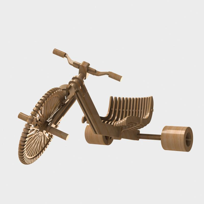 Tricycle Drift 3d Puzzle CDR File