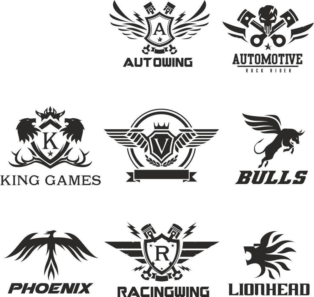 Tea Logos Collection: Technical Logo Collection Vectors Free Vector Cdr Download
