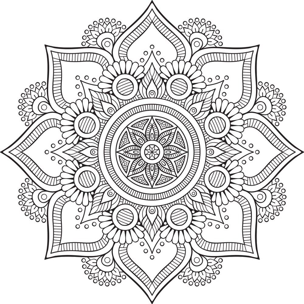 Mandala Floral Tattoo Design Free Vector Cdr Download 3axis Co