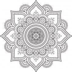 Mandala Floral Tattoo Design CDR File