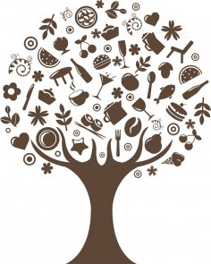 дерево на кухню CDR File