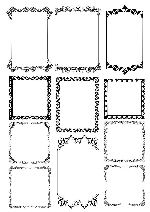 Frame Borders Free Vector cdr Download - 3axis.co
