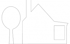 House Silhouette dxf File