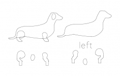 Wienner Dog dxf File