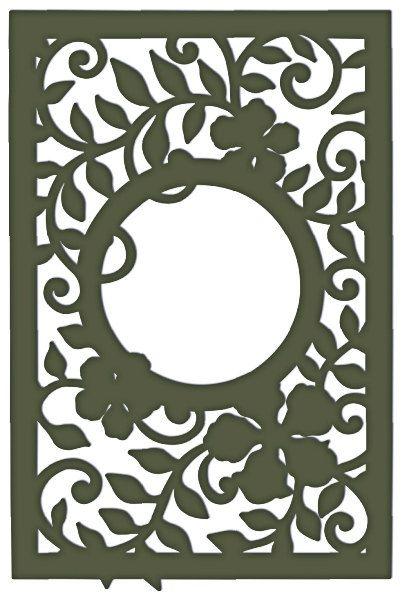 Decorative Leafy Frame dxf File