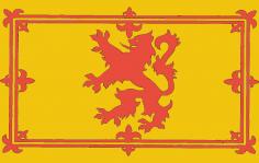 Royal Lion Rampant Scotland Flag dxf File