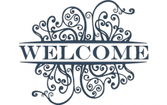 Welcome Decoration dxf File