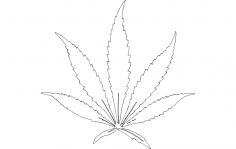 Plant Leaf dxf File