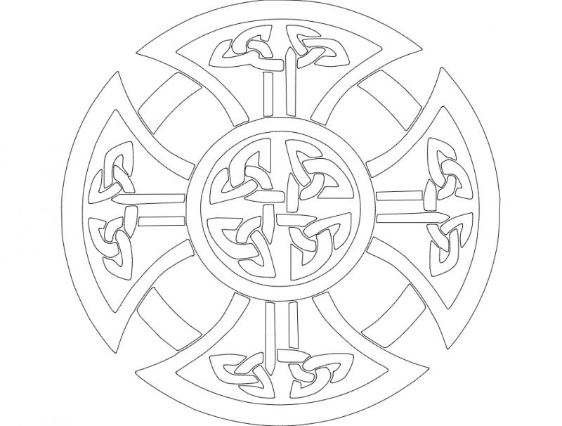 derby celtic cross dxf file free download