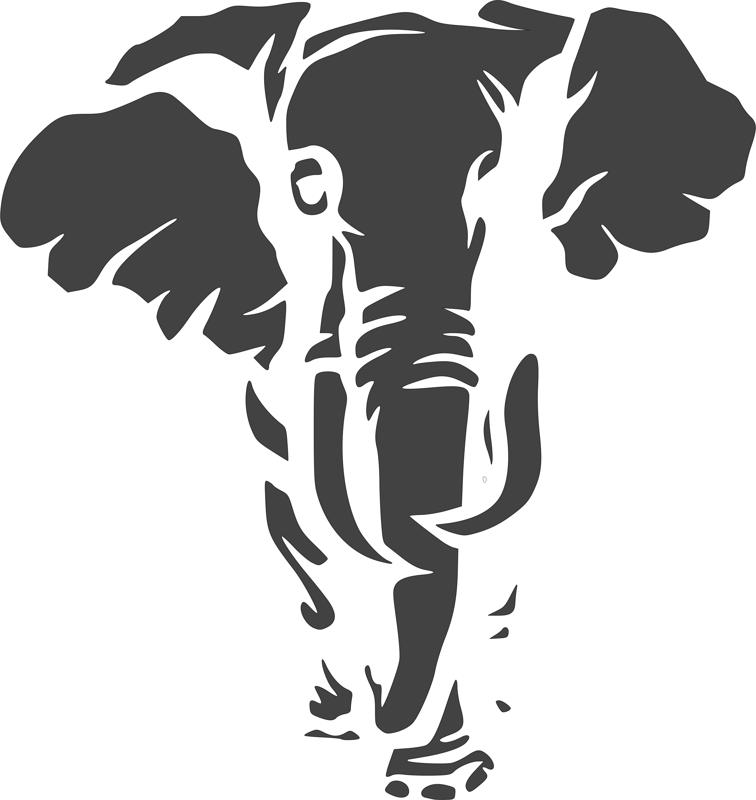 Jungle Animal Elephant Stencil Dxf File Free Download