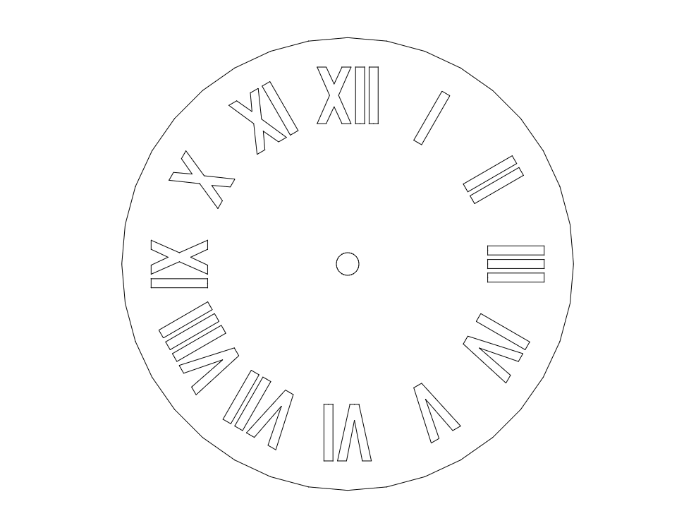 Roman Clock dxf File