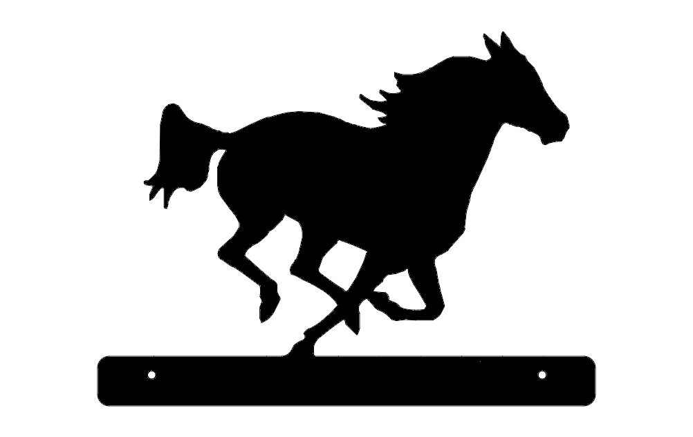 Horse Running Plate Dxf File Free Download 3axis Co
