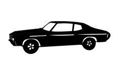 72 chevelle 1b dxf File