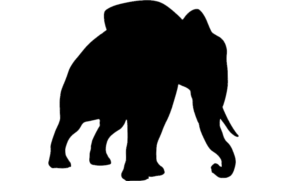 Elephant Silhouette dxf File Free Download - 3axis co