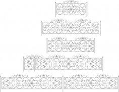 Decorative Black White Fences Set CDR File