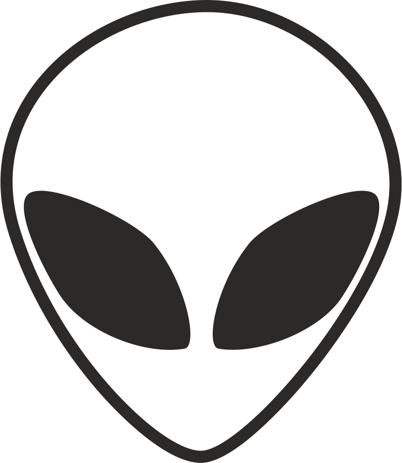 Alien Head Black And White CDR File