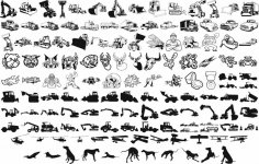 Heavy Equipment Vector Art Silhouettes CDR File