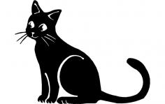 Cat Sitting dxf File