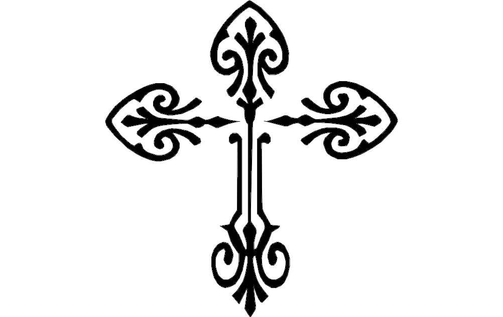 manuscript form style decorative in an antique illustration like decor illuminated cross geometrical vector medieval celtic ornamental
