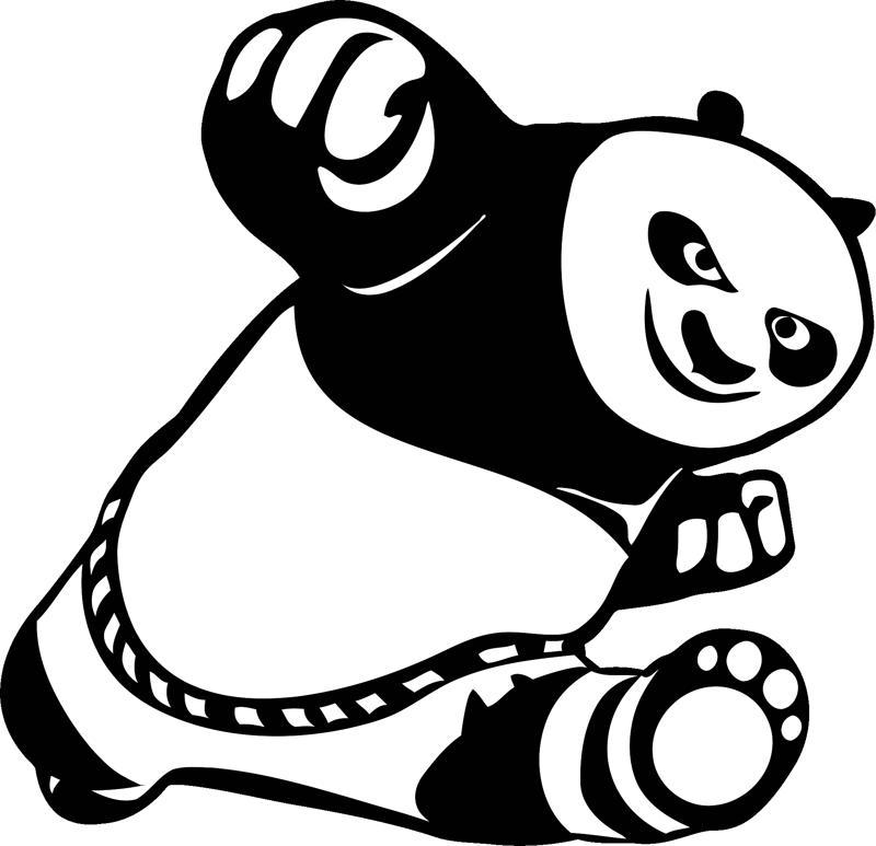 Car Stickers Cute Kung Fu Panda CDR File