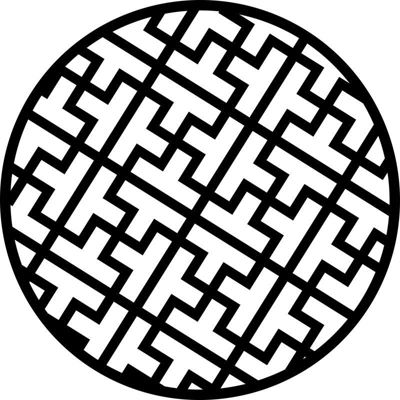 Circular Decorative Pattern Design dxf File Free Download