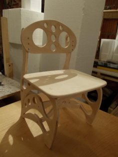 Plywood Children Chair 3D Puzzle dxf File