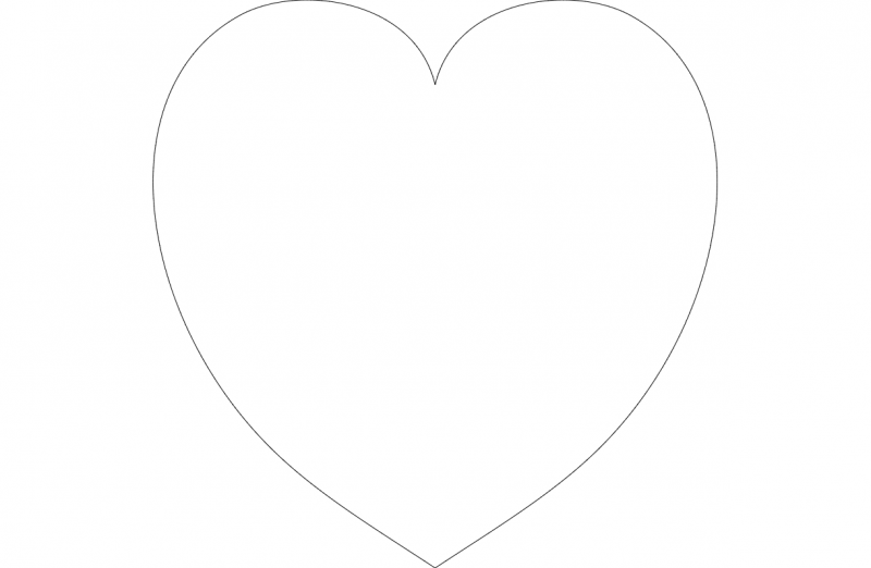 Heart Outline Dxf File Free Download 3axis Co